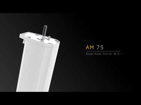 AM75 Series 1 the super quiet, battery powered, smart phone operated, curtain motors