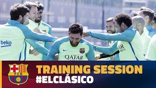 Final training session before El Clásico