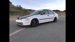 BEST $3500 Spent? 1994 Honda Civic Track Car  - One Take