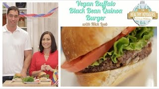 Vegan Buffalo Black Bean Quinoa Burger with Nick Loeb