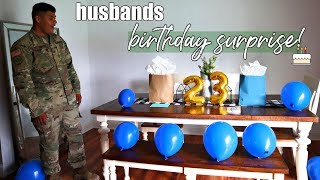 WIFE SURPRISES HUSBAND WITH BIRTHDAY SURPRISE | MILITARY FAMILY