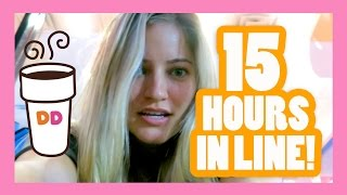 Camped out ALL NIGHT for Dunkin Donuts Santa Monica Grand Opening! | iJustine