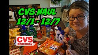 CVS COUPONING HAUL 12/1 - 12/7   AMAZING DEALS THIS WEEK!