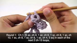 How to Crochet the Butterfly Motif