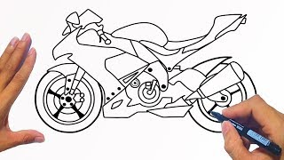 How To Draw A Motorcycle (Racing Bike) | Jelly Colors Art