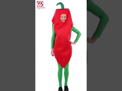 Disfraz de pimiento rojo