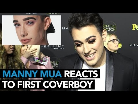 Manny MUA Reacts To Covergirl's First Ever Cover Boy | WHOSAY