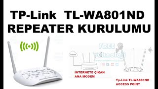Tp Link TL WA801ND REPEATER KURULUMU  ( TL-WA901ND/TL-WA801ND ACCESS POİNT )
