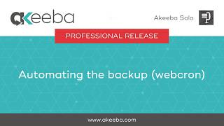 Watch a video on Automating the Backup (WebCron) [04:57]