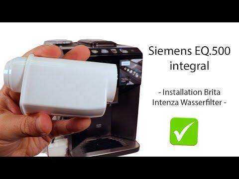 Siemens EQ.500 integral - Wasserfilter einsetzen