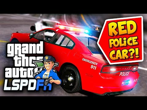 GTA 5 LSPDFR Why Is This Police Car RED?! *NEW* Cars! | GTA 5 REALISTIC POLICE MOD