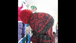 How to knit easy fair isle hat, stranded color hat