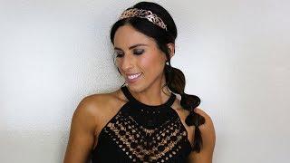 Princess Jasmine: The Perfect Last Minute Halloween Hairstyle
