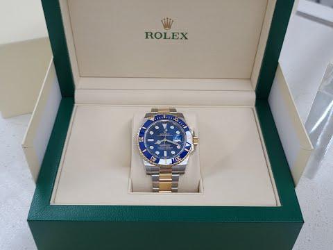 Rolex Submariner Steel and Gold Blue Dial Ceramic