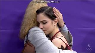 Evgenia Medvedeva and Eteri hug