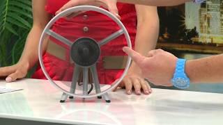 "infactory Tisch-Ventilator ""Streamline"" im Turbinen-Design"
