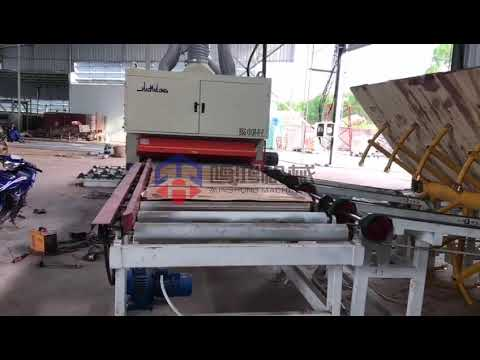 Incredible Plywood Machinery!Sanding machine line with automatic loader and stacker