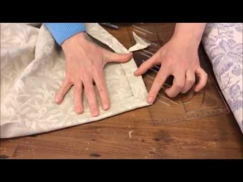 come realizzare l'angolo a cappuccio sulle tovaglie