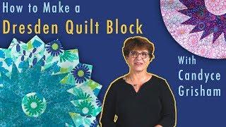 How To Make A Sawtooth Dresden Quilt Block