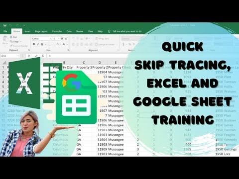 Quick Skip Tracing, Excel and Google Sheet Training   Freelancing