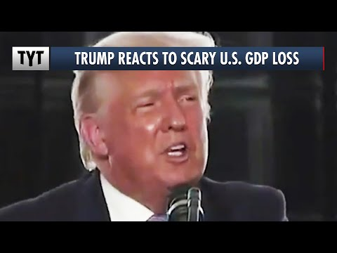 Trump's Nonsense Reaction To The LARGEST GDP Drop In American History