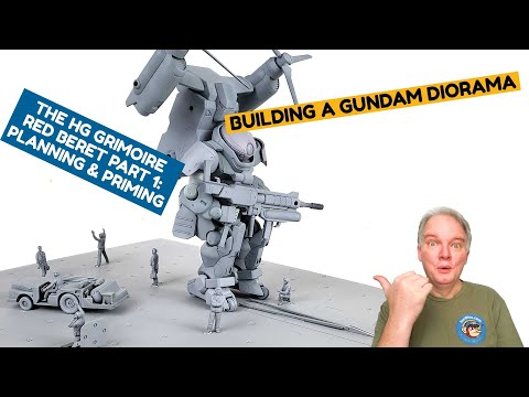 Building A Gundam Diorama: Part 1 – Planning And Priming