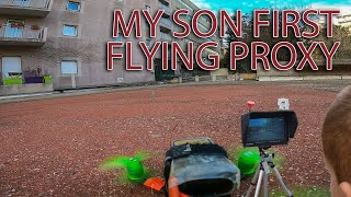 First Fpv flying proxy of my son with 2.5 inch quad
