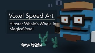 MagicaVoxel Speed Art: Hipster Whales Whale