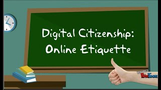 Digital Citizenship   Internet Rules Of Etiquette