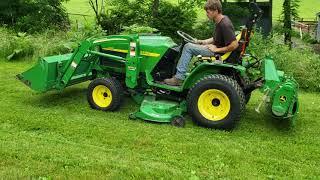 2005 John Deere 4115 Compact Tractor w/ Loader, Tiller, Mower, Auger.  Demo video!