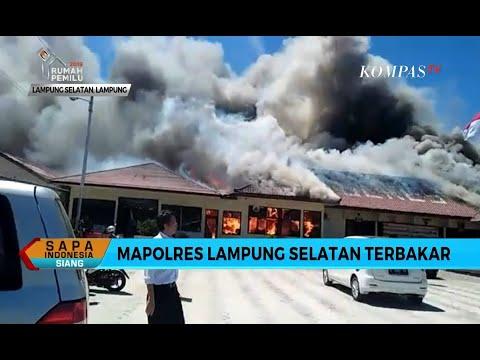 Mapolres Lampung Selatan Terbakar, Tahanan Dievakuasi