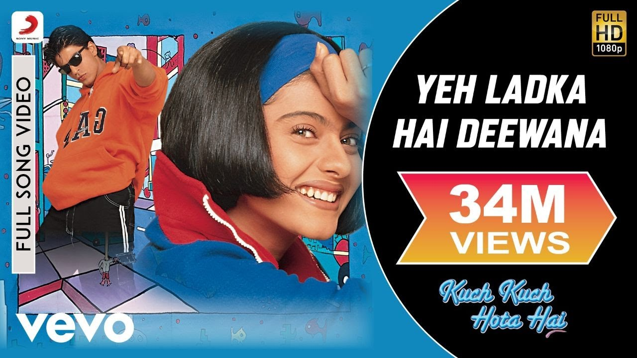 Yeh Ladka Hai Deewana Full - Kuch Kuch Hota Hai|Shah Rukh Khan,Kajol|Udit Narayan - Udit Narayan and Alka Yagnik Lyrics in hindi