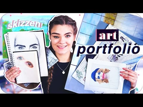 Mein ART PORTFOLIO // Skizzen, Portraits, Malen & Abi-Kunstmappe // I'mJette