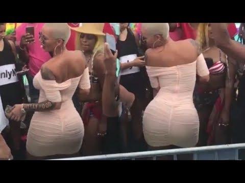 Amber Rose Twerking At Summerfest Cruise 2017