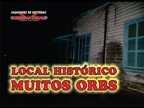 LOCAL HISTÓRICO GRAVADO A NOITE - MUITOS ORBS PASSAM NA FRENTE DA CÂMERA.