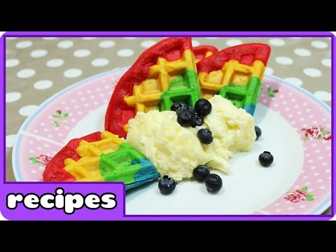 Rainbow Waffles Recipe | Fun Breakfast Ideas | Learn how to Cook with Hoopla Recipes