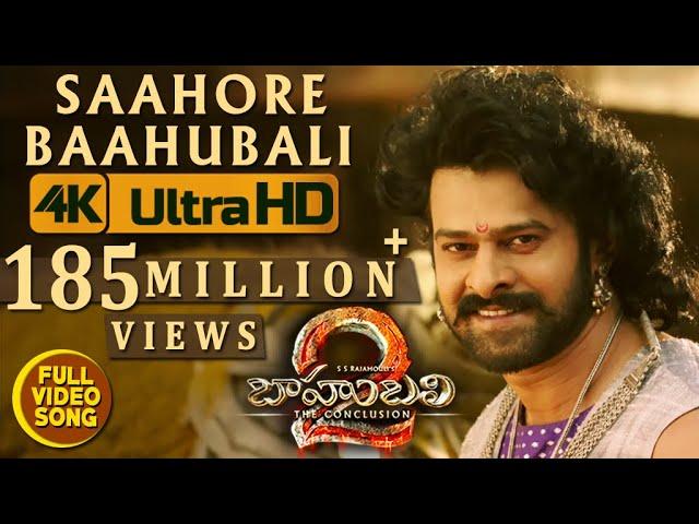 Saahore Baahubali Full Video Song | Baahubali 2 Movie Songs | Prabhas, Anushka