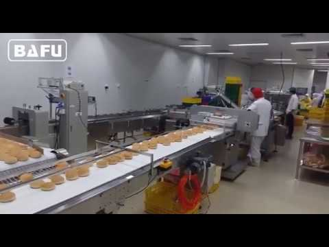 máquina de envasado Hamburgo, máquina de embalaje de pan, máquina flow-pack automática