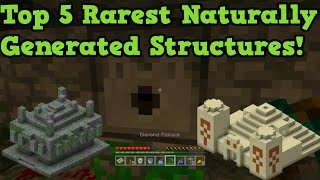 Minecraft Xbox 360 + PS3 - Top 5 Rarest Natural Structures
