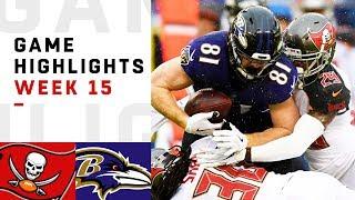 Buccaneers vs. Ravens Week 15 Highlights | NFL 2018