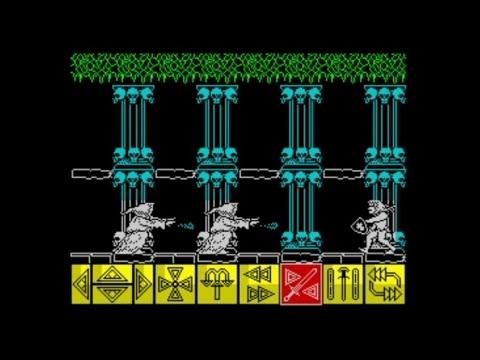 Barbarian (1988 / 128k AY Music Version) Walkthrough, ZX Spectrum