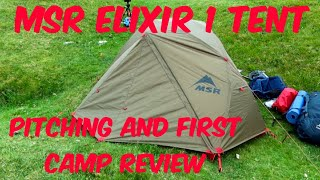 MSR Elixir 1 Tent - Pitching demo and first wild camp review