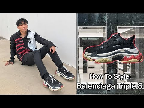 HOW TO STYLE: BALENCIAGA TRIPLE S (black/red)