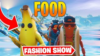 *FOOD* Fortnite Fashion Show! CRAZY Skin Competition! Best DRIP & COMBO WINS!