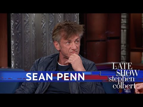 Sean Penn Smokes Several Cigarettes on 'The Late Show,' Says He's on Ambien: Watch!