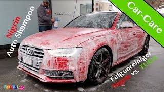 Car-Care | Nigrin vs. TUGA Felgenreiniger | Nigrin Autoshampoo Konzentrat + Gloria FM10 | Folge 3