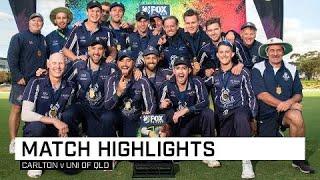Carlton claim inaugural Fox Cricket T20 Champs