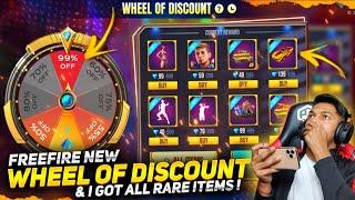 New Wheel Of Discount Event I Got All Rare Items In 1 Diamonds? LOKESH GAMER VS SULTAN Free Fire