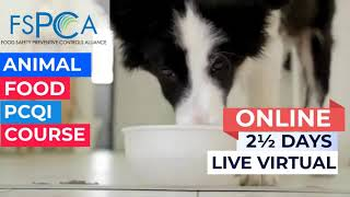 Online PCQI for Animal Food Course
