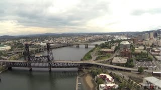 Drone's Eye View of Portland, Oregon